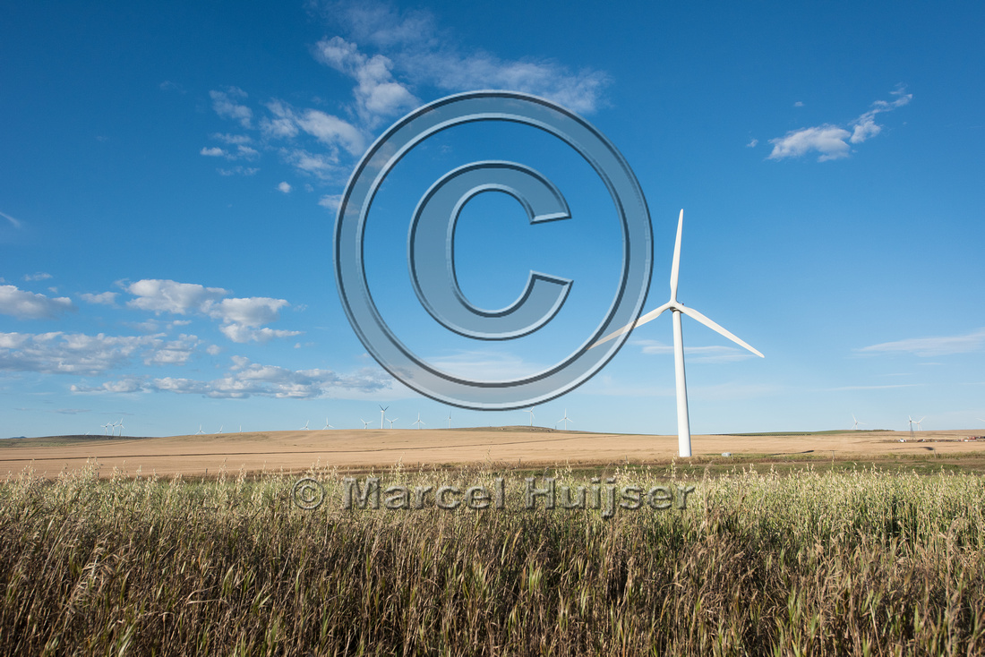 Wind turbines, near Pincher Creek, Alberta, Canada