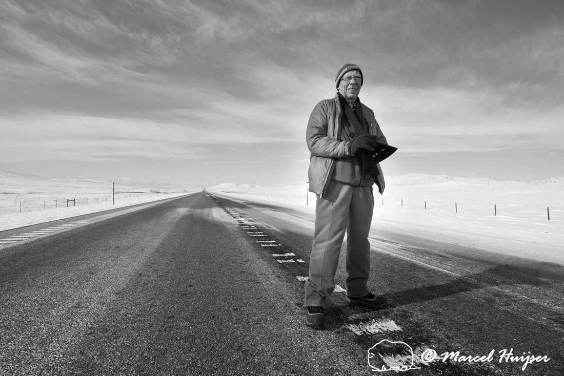 Piet Huijser, on the road again, Montana, USA