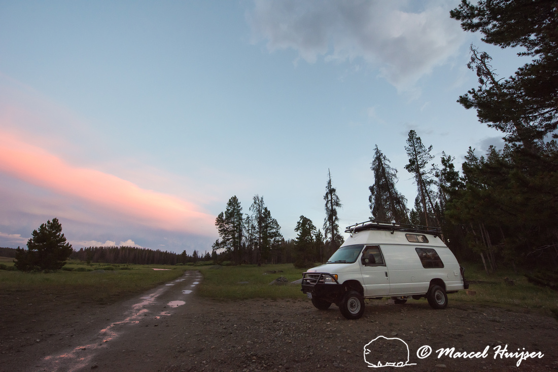 Camp spot, Wind River Range, Big Sandy trailhead area, Wyoming,