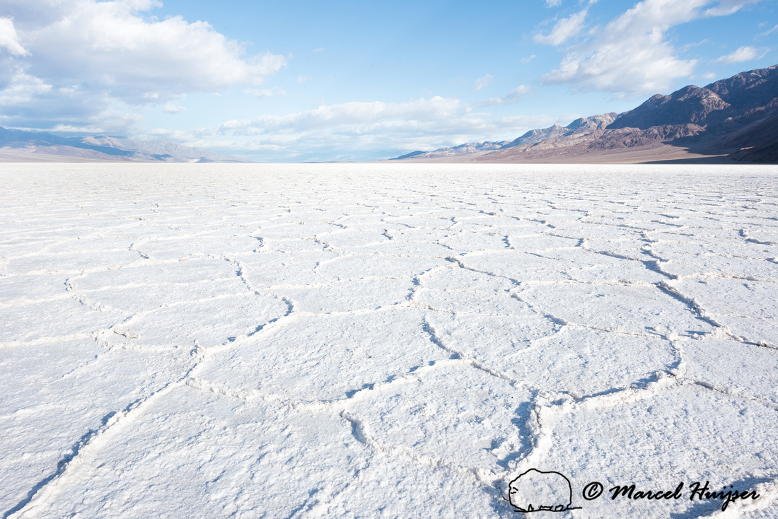 Salt flats at Badwater Basin, Death Valley National Park, Califo