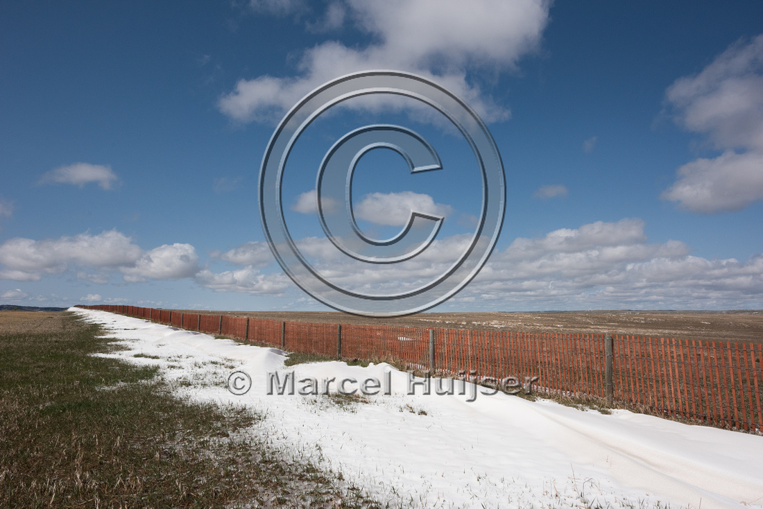 Snow fences, west of Lusk, Wyoming