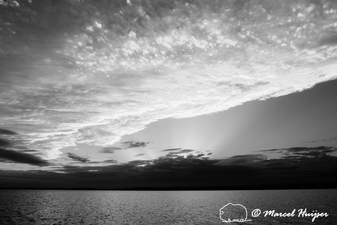 Sunset over Choctawhatchee Bay (in infrared), Niceville, Florida