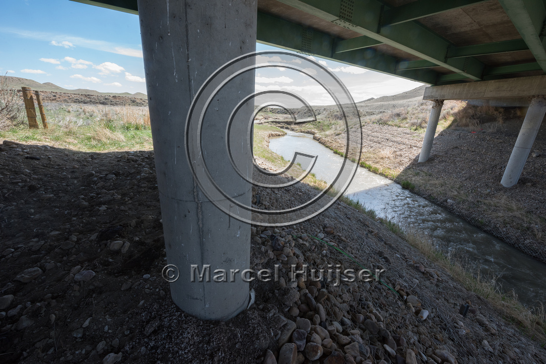 Bridge across the  North Fork Powder River (mile 258.98 along I-
