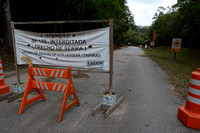 Road through Parque Estadual 'Carlos Botelho' under reconstruction